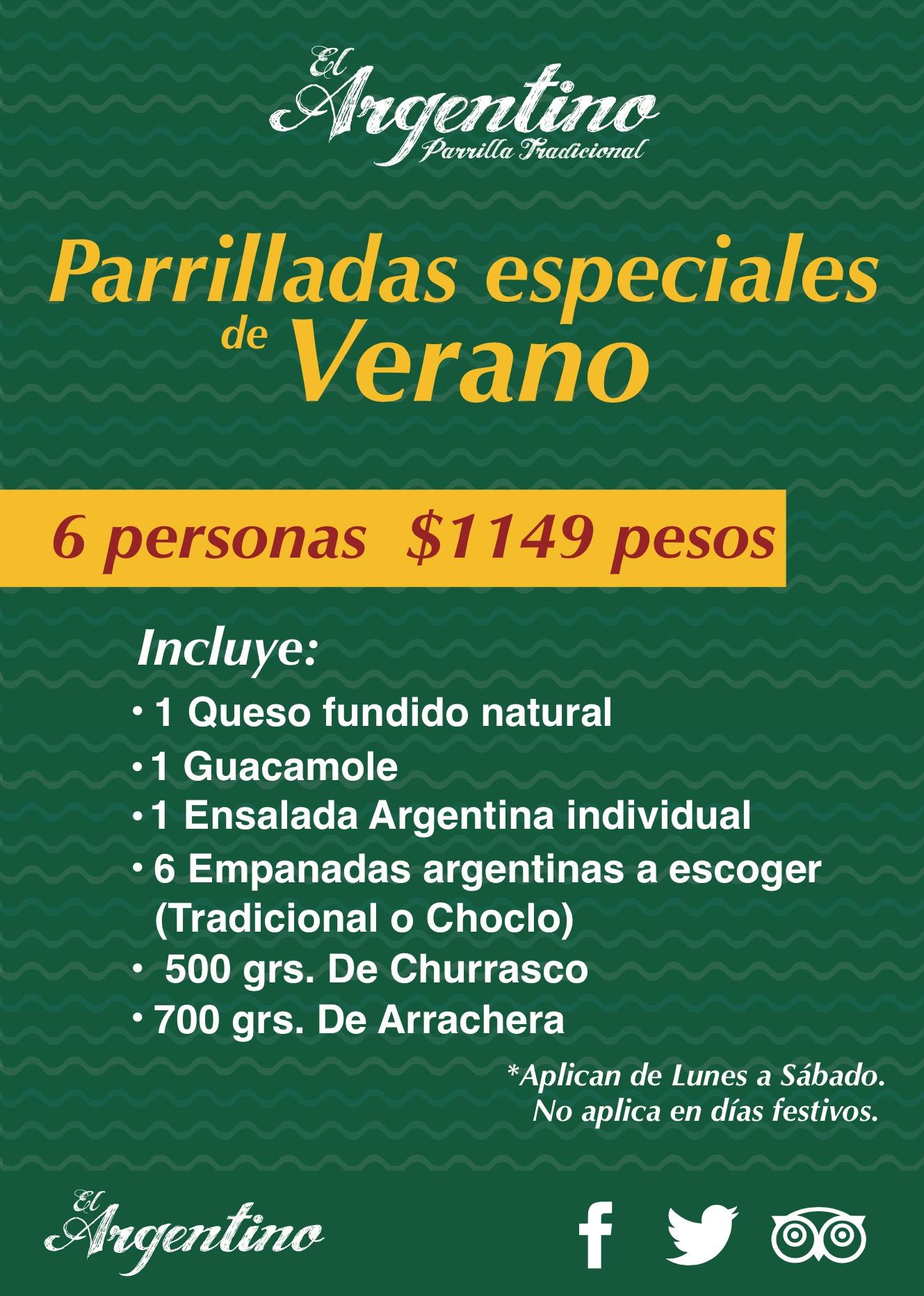PARRILLADAS DE VERANO 6personas